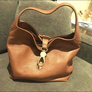 Large Dooney & Bourke Boho Leather Toto